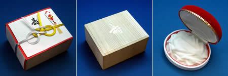 結納用に最適な桐製木箱・水引付
