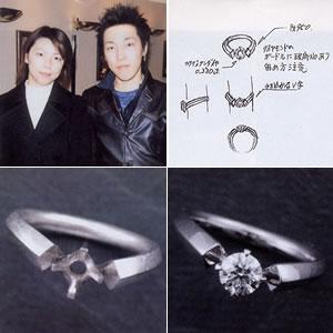 思い通りのデザインに大満足・・・エンゲージリングご購入の齋藤正徳さん・太子さん